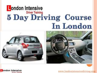 5 Day Driving Course in London