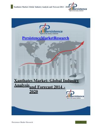 Xanthates Market: Global Industry Analysis and Forecast 2014