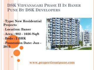DSK Vidyanagari Phase II In Baner Pune By DSK Developers