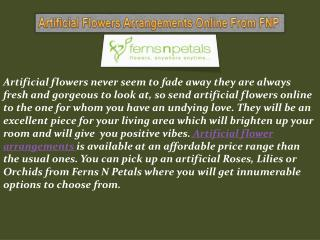 Artificial Flower & Flowers Arrangements Online