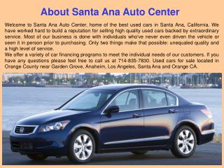 Used Cars Center in Orange County