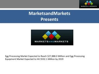 Egg Processing & Equipment Market by Type - Global Trends &