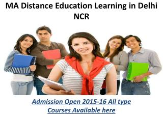 Distance education Courses  MA in India  9278888318