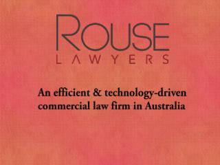 Rouse Lawyers - Business lawyers in Brisbane