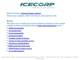 Icecorps Logistics Inc-global-transportation