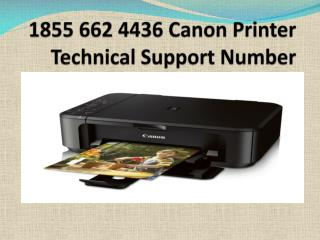 Get Help- #1 855 662 4436 Canon Printer Not Responding
