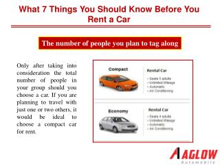 What 7 Things You Should Know Before You Rent a Car