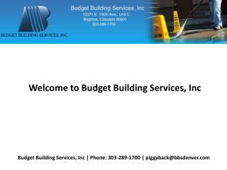 Best Window Cleaner in Denver - Budget Building Services