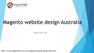 Magento Website Design Australia | Magento Site