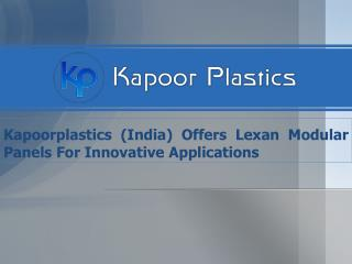 Lexan Modular Panels For Innovative Applications