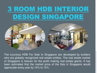 3 Room HDB Interior Design Singapore