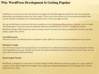 Why WordPress Development Is Getting Popular