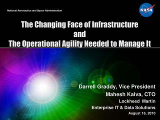 The Changing Face of Infrastructure  and  The Operational Agility Needed to Manage It
