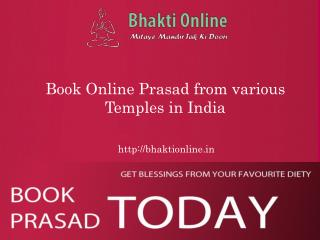 Book Online Prasad from various Temples in India