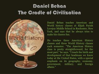 Daniel Behan The Cradle of Civilization