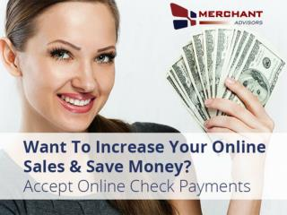 e-Check Online from Merchant Advisors
