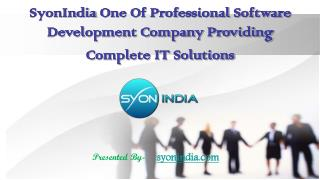 SyonIndia One Of Professional Software Development Company