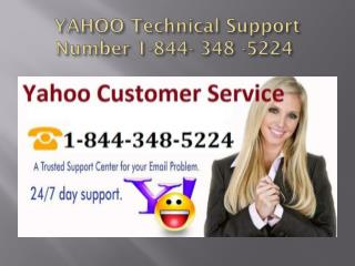 Yahoo Customer Support 1-844- 348 -5224 Contact Number