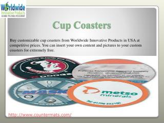 #Cup Coasters