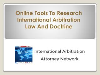 Research International Arbitration Law And Doctrine