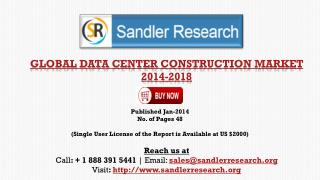 Global Data Center Construction Market Scenario & Growth Pro