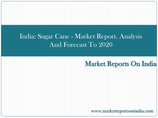 India: Sugar Cane - Market Report. Analysis And Forecast