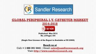 Global Peripheral I.V. Catheter Market Growth Drivers Analys