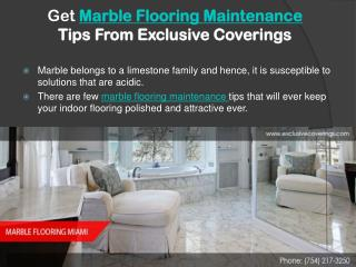 Get Marble Flooring Tips from Exclusive Coverings