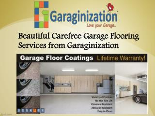 Beautiful Carefree Garage Flooring Services from Garaginizat