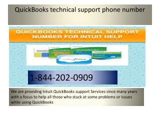QuickBooks Contact Number 1-844-202-0909