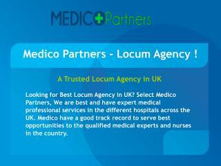 Medico Partners - Locum Agency