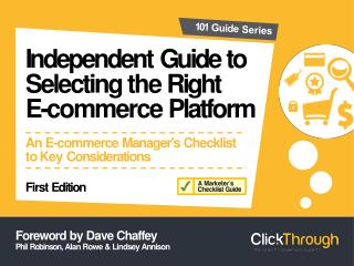 Selecting the Right E-Commerce Platform