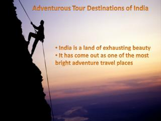 Adventurous tour of India