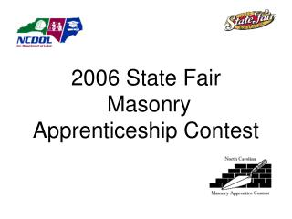 2006 State Fair   Masonry  Apprenticeship Contest