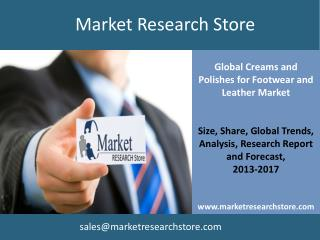Market for Creams and Polishes for Footwear and Leather