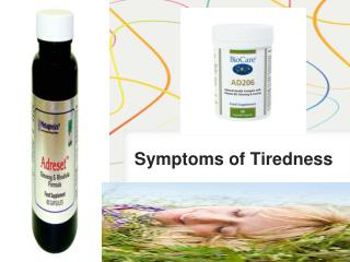 Symptoms of Tiredness