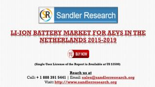 Li-ion Battery Market for AEVs in the Netherlands 2015-2019