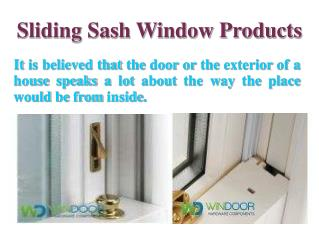 Sliding Sash Window Products