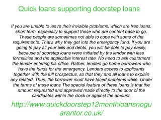 No guarantor loans provided the benefits
