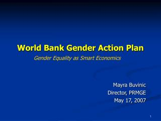 World Bank Gender Action Plan