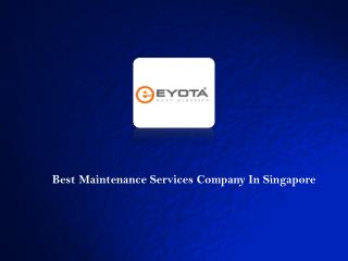 Maintenance Services In Singapore