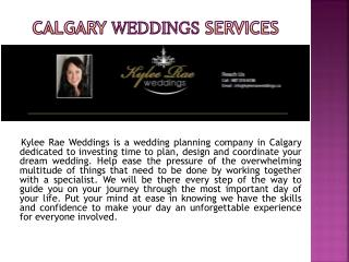 Wedding Planning Services in Calgary