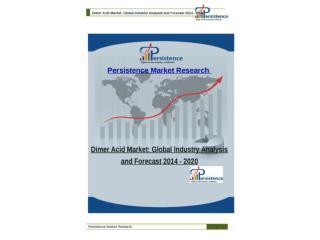 Dimer Acid Market: Global Industry Analysis