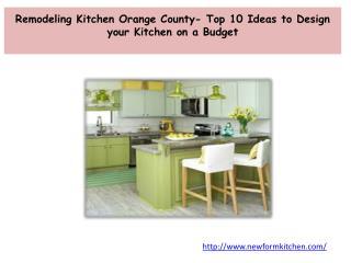 Remodeling Kitchen Orange County