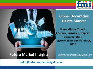 Decorative Paints Market: Global Industry Analysis Till 2025