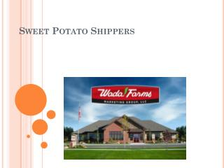 Sweet Potato Shippers