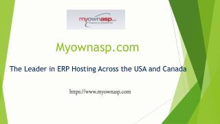 ERP Hosting Provider-Myownasp.com