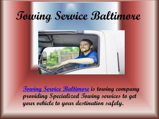 Baltimore City Towing