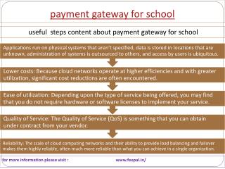 Set a price for a service of payment gateway for school