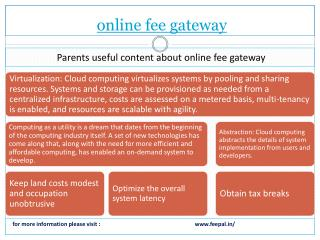 Data available  about online fee gateway